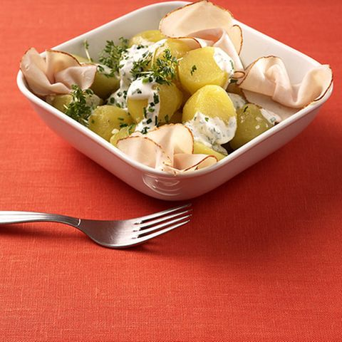 Kartoffelsalat grün-weiß