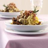Pilz-Fettucine