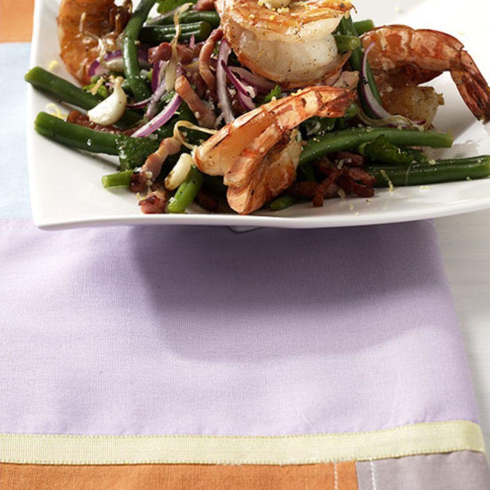 Bohnen-Garnelen-Salat
