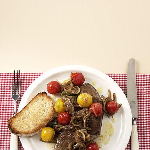 Tomaten mit Leber