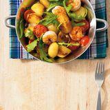 Kartoffel-Garnelen-Pfanne
