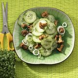 Gurkensalat mit Pfifferlingen