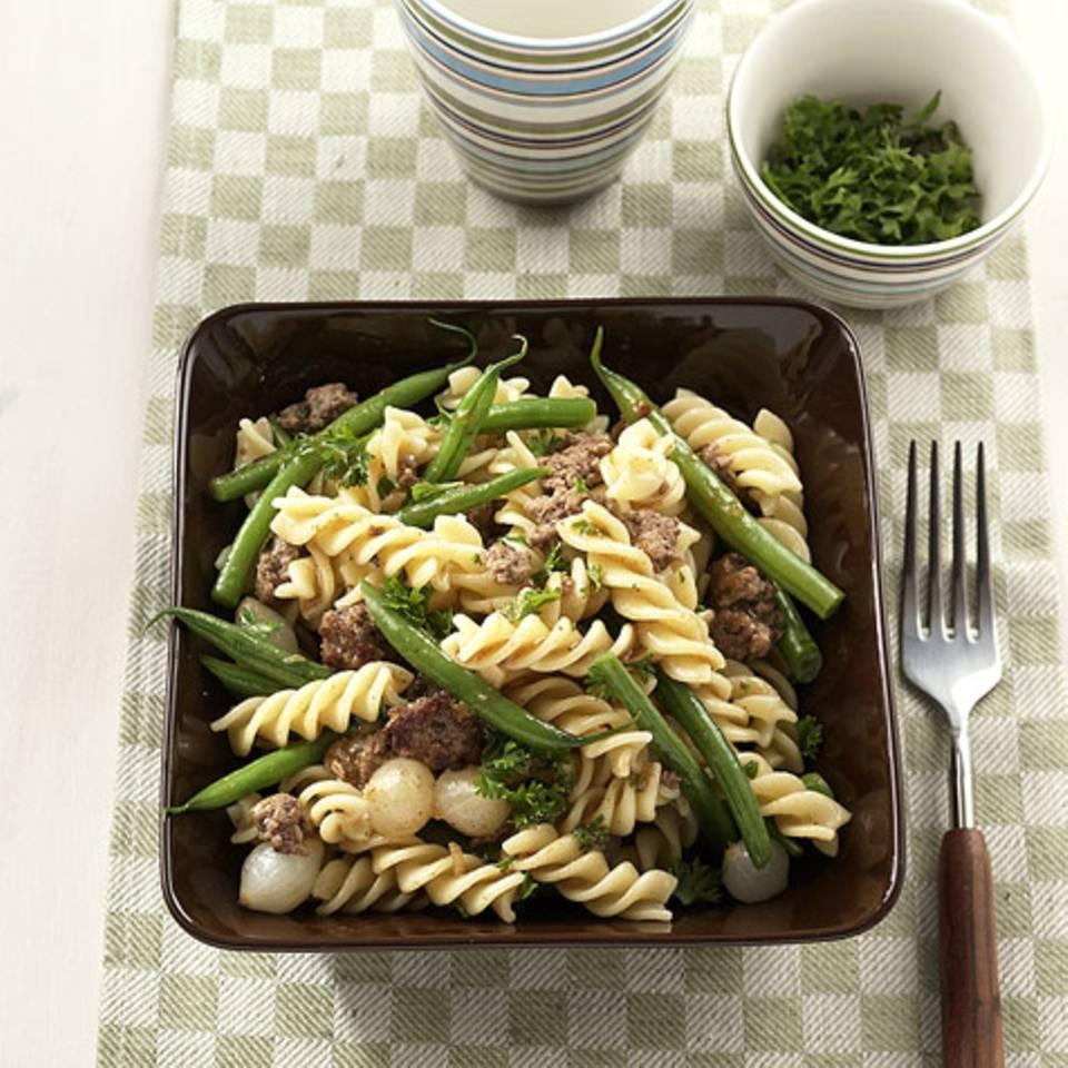 Fusilli mit grünen Bohnen Rezept