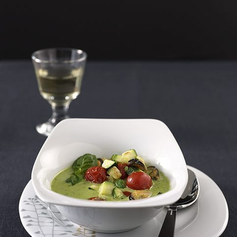 Muschelsuppe mit Pesto