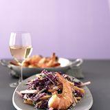 Asiatischer Rotkohlsalat