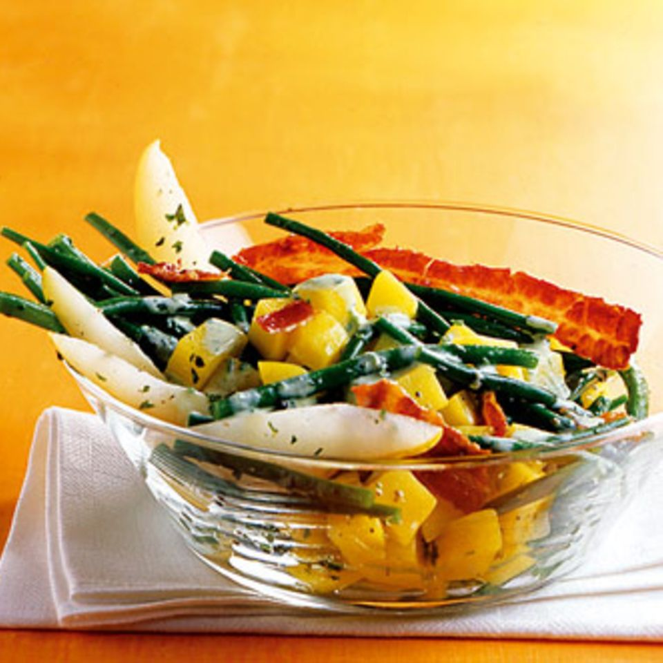 Birnen-Bohnen-Bacon-Salat