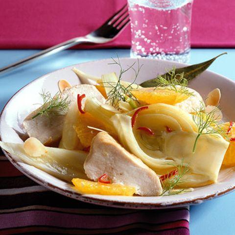 Orangen-Fenchel-Gemüse mit Poulardenbrust