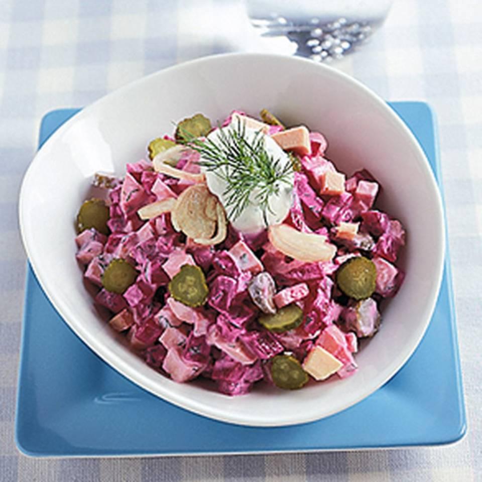 Rote-Bete-Wurstsalat Rezept