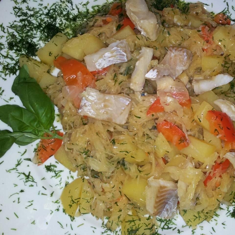 Sauerkraut-Fisch-Topf Rezept
