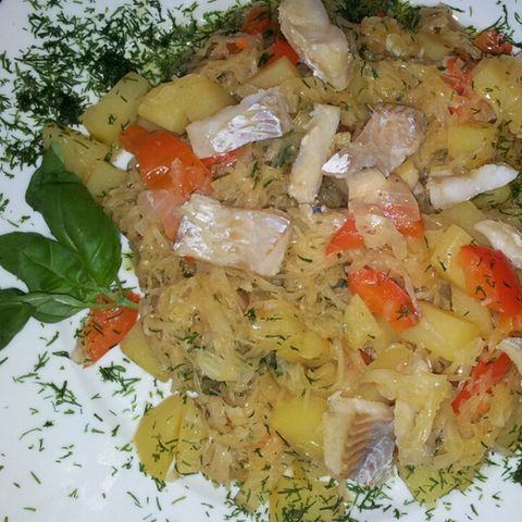 Sauerkraut-Fisch-Topf