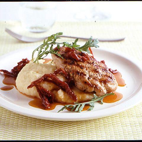 Schweinefilet mit Kartoffel-Sellerie-Püree
