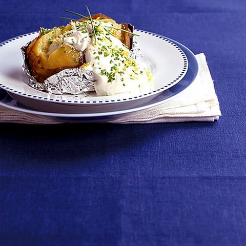 Kartoffeln mit Zitronenquark