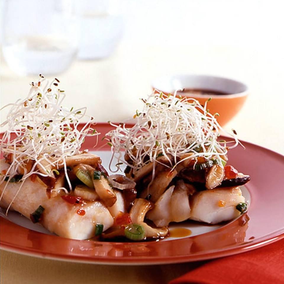Rotbarsch mit Shiitakepilzen Rezept