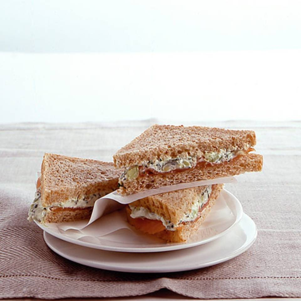 Avocado-Lachs-Sandwiches Rezept