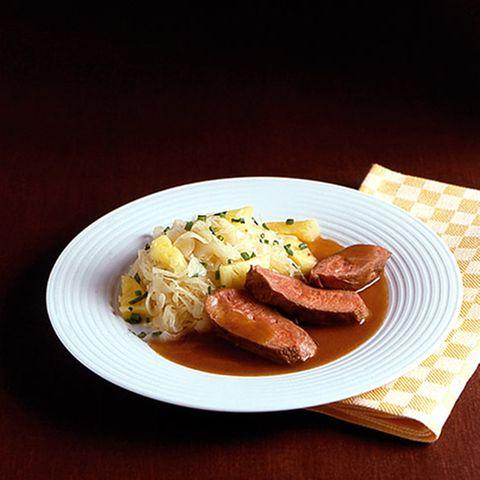 Entenbrust mit Sauerkraut