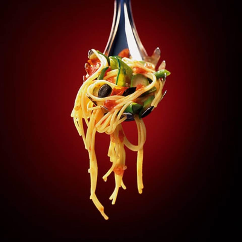 Spaghettini mit Frühlingsgemüse Rezept