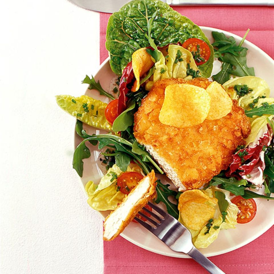 Chips-Schnitzel