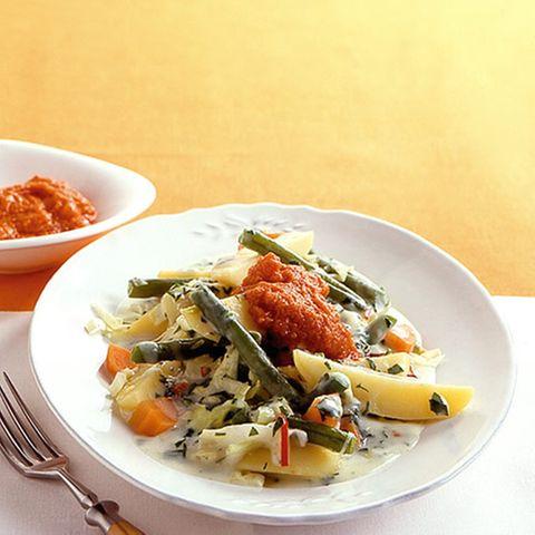 Kartoffelgulasch mit Pesto
