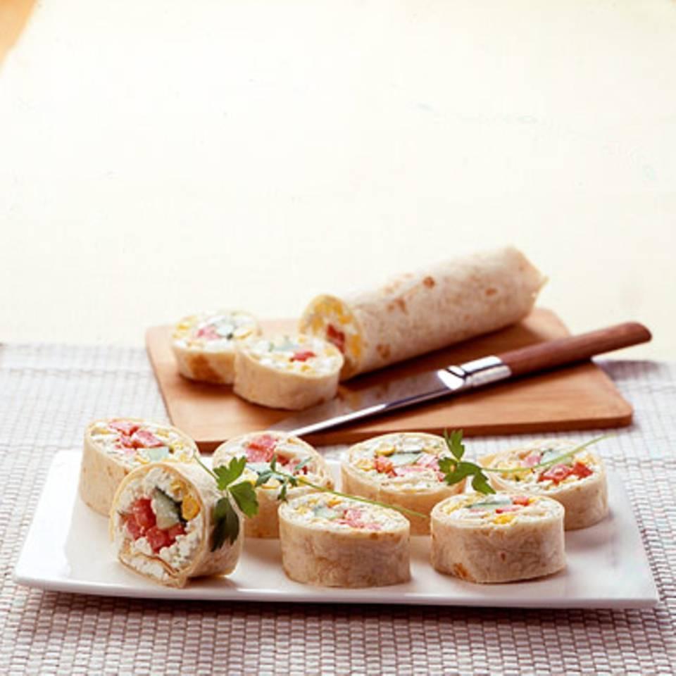 Hüttenkäse-Wraps Rezept