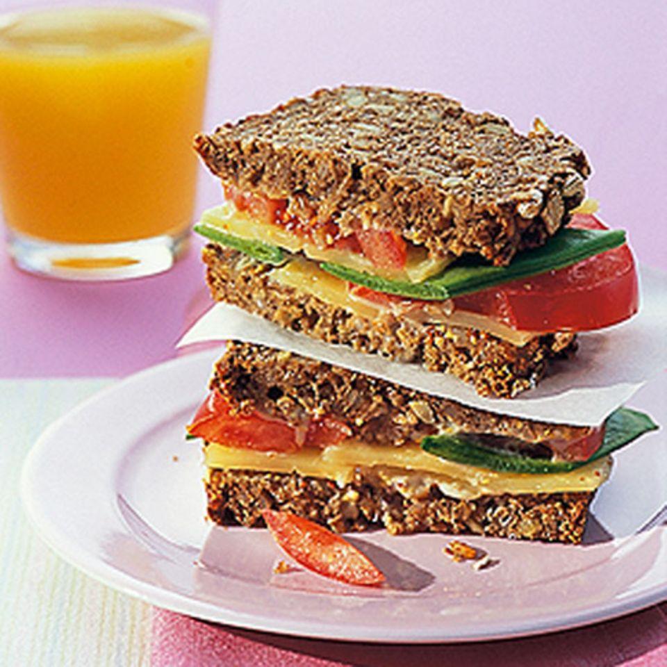 Vollkorn-Käse-Sandwich