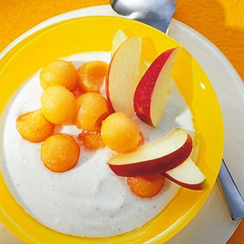 Vanilledickmilch mit Melone