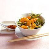 Garnelen-Curry mit Spinat