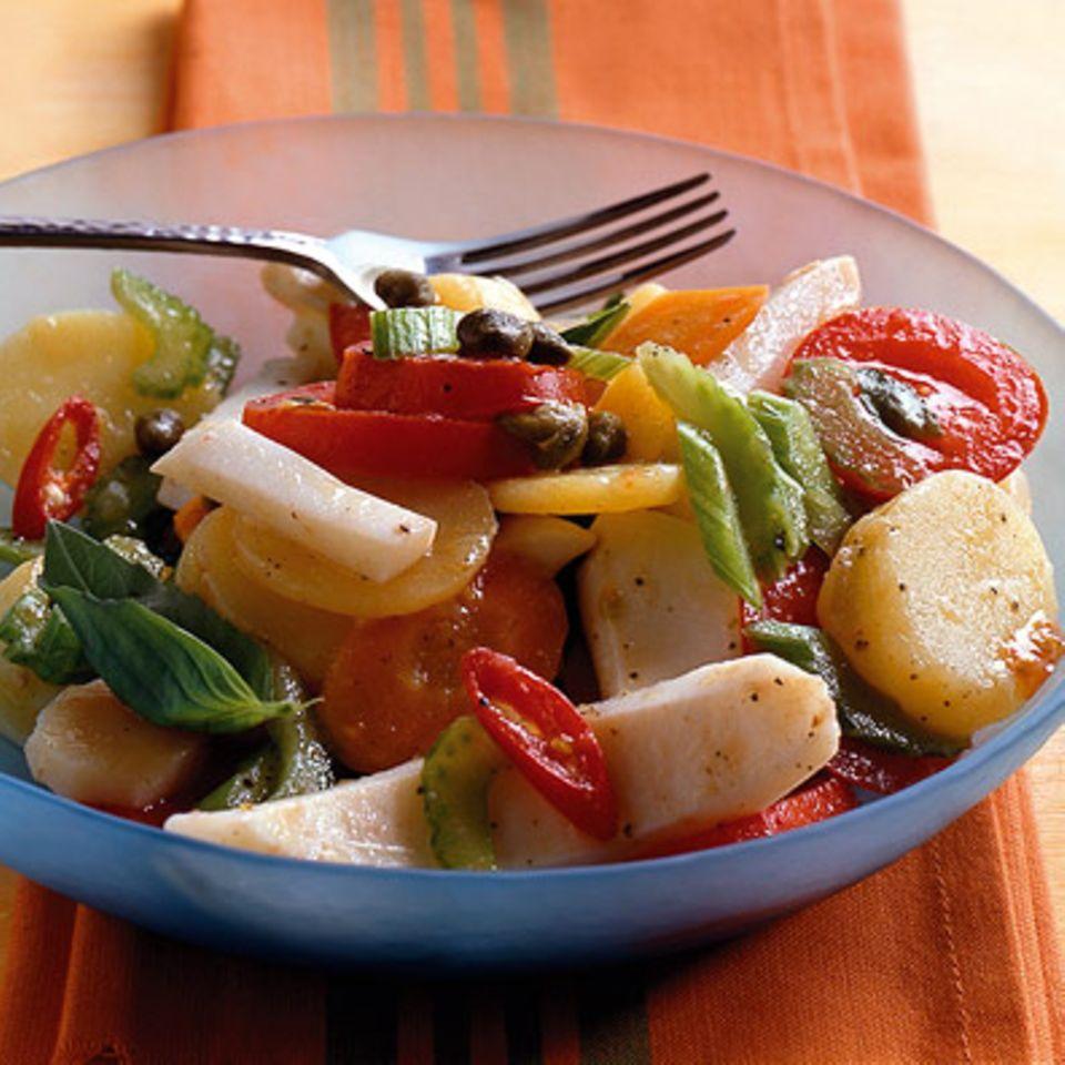 Sepia-Kartoffelsalat