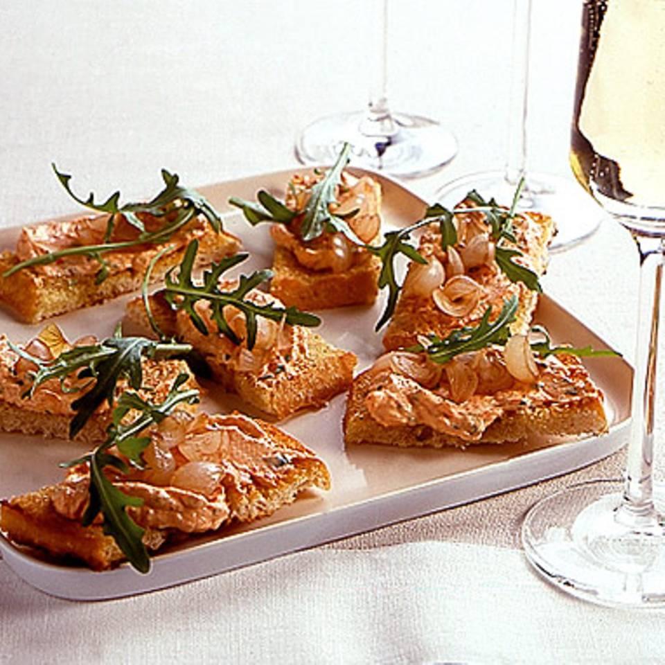 Crostini mit Paprika-Frischkäse Rezept