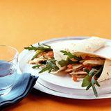 Hähnchen-Tortillas mit Currymayonnaise
