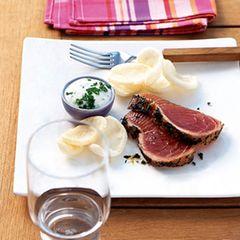 Thunfisch mit Wasabi-Sauce