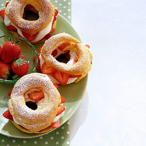 Erdbeer-Bagels