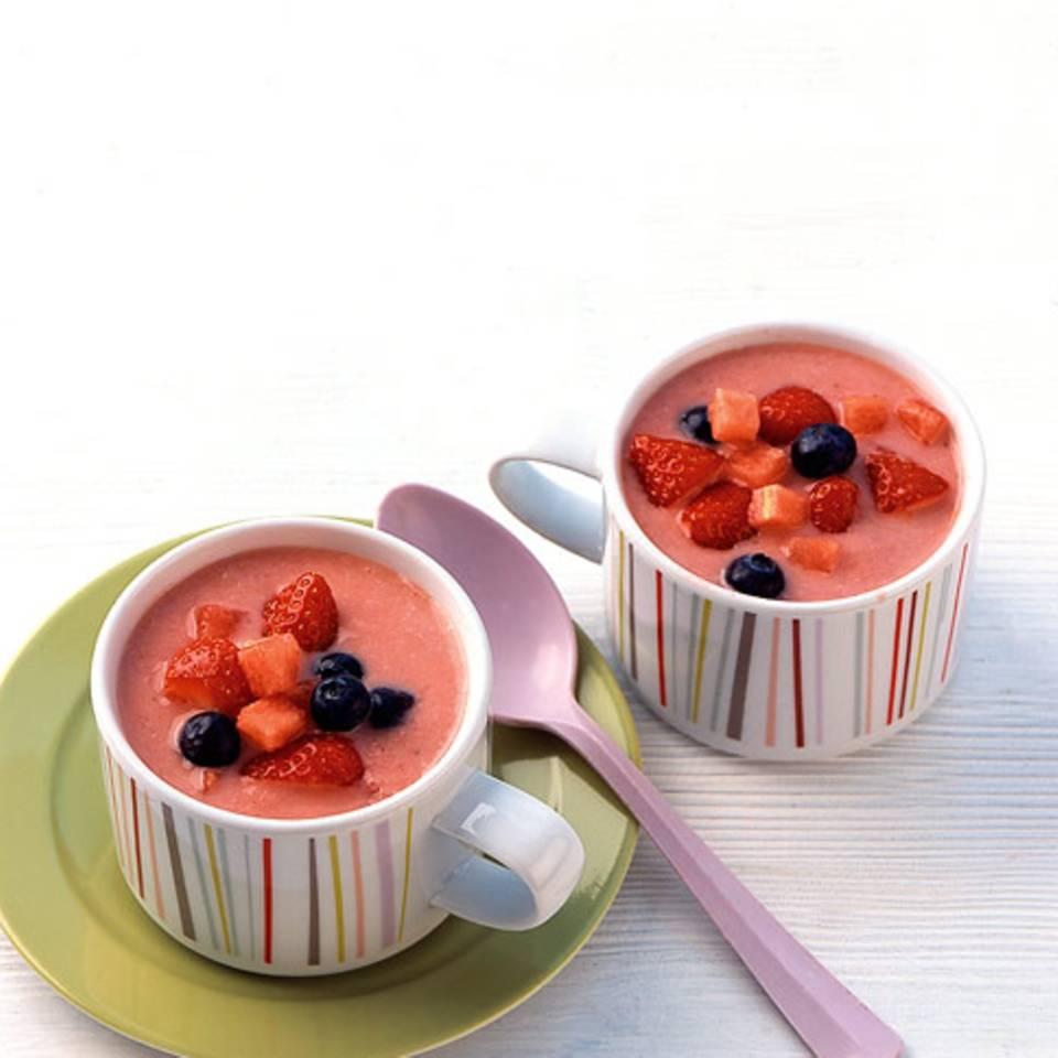 Melonen-Erdbeer-Gazpacho Rezept