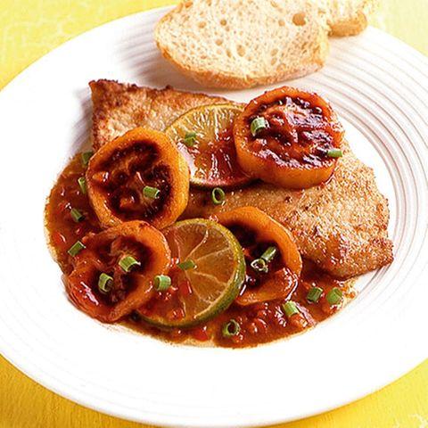 Kalbsschnitzel mit Tamarillos