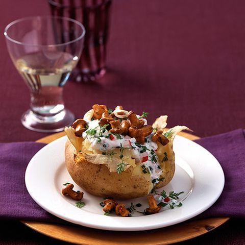 Ofenkartoffeln mit Ricotta und Pfifferlingen