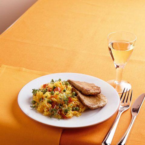 Basmatireis mit Safran und Gemüse