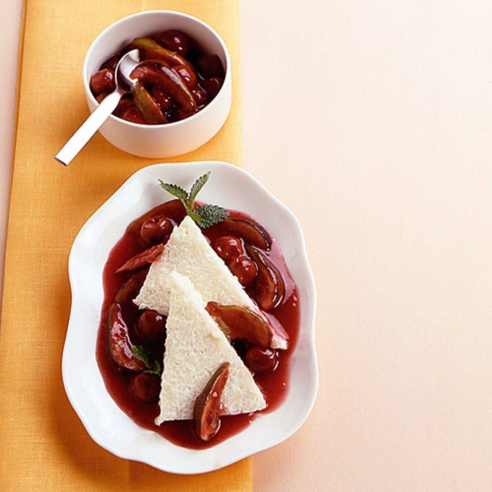 Reisterrine mit Rotwein-Feigen