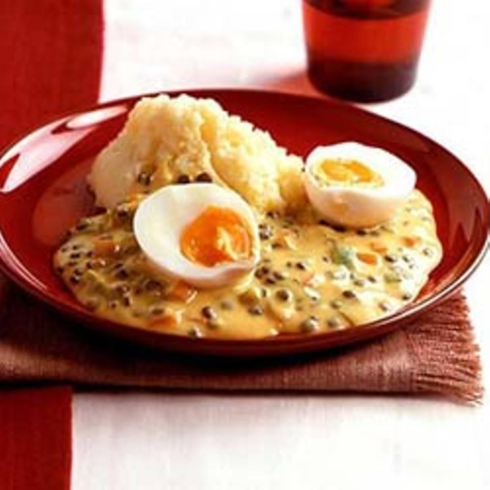 Eier in Linsen-Senfsauce Rezept