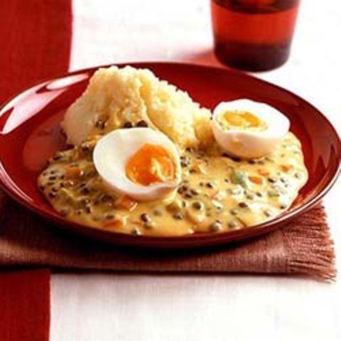 Eier mit Senfsauce