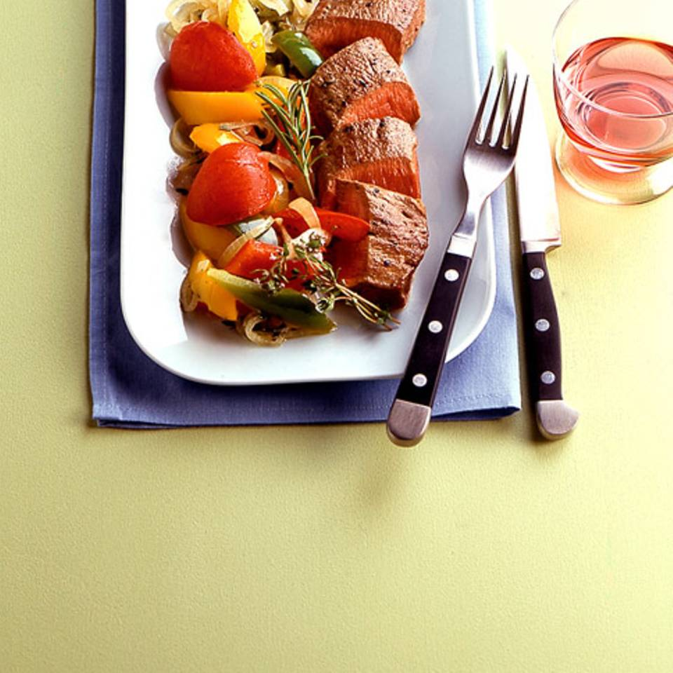 Peperonata mit Schweinefilet Rezept