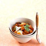 Auberginen-Curry mit Joghurt