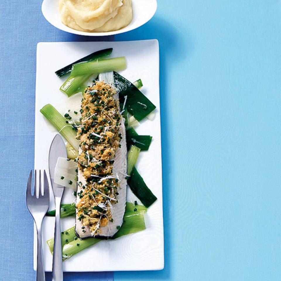Forellenfilets mit Meerrettichkruste Rezept