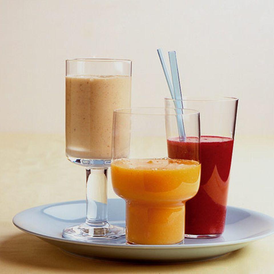 Orangen-Papaya-Schluck