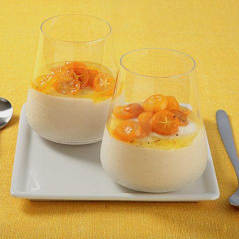 Kefir-Honig-Creme mit Kumquats