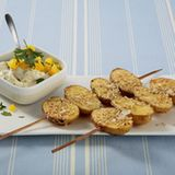 Sesamkartoffeln mit Paprikaquark