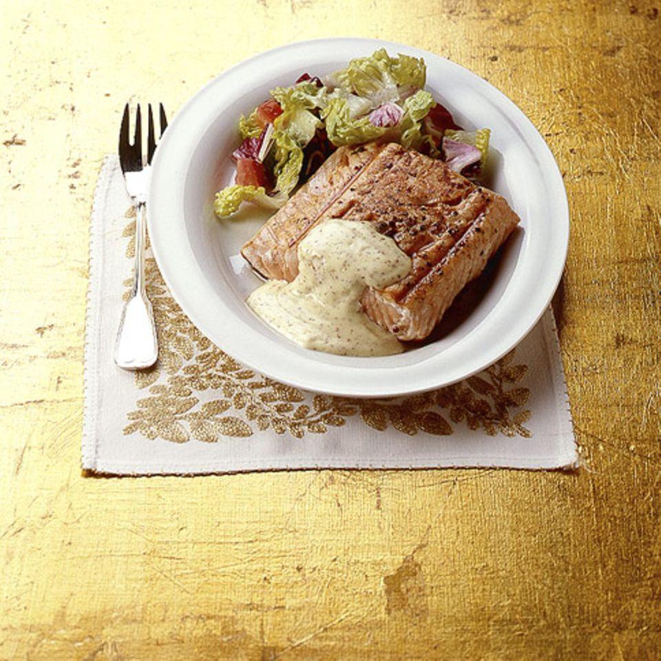 Lachs mit Senfcreme