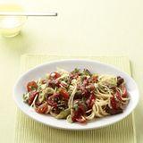 Spaghetti mit Steaksauce
