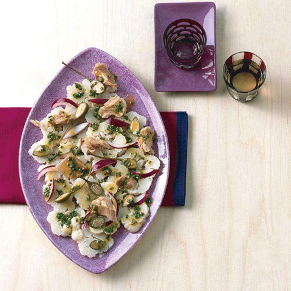 Blumenkohlsalat mit Koriandervinaigrette