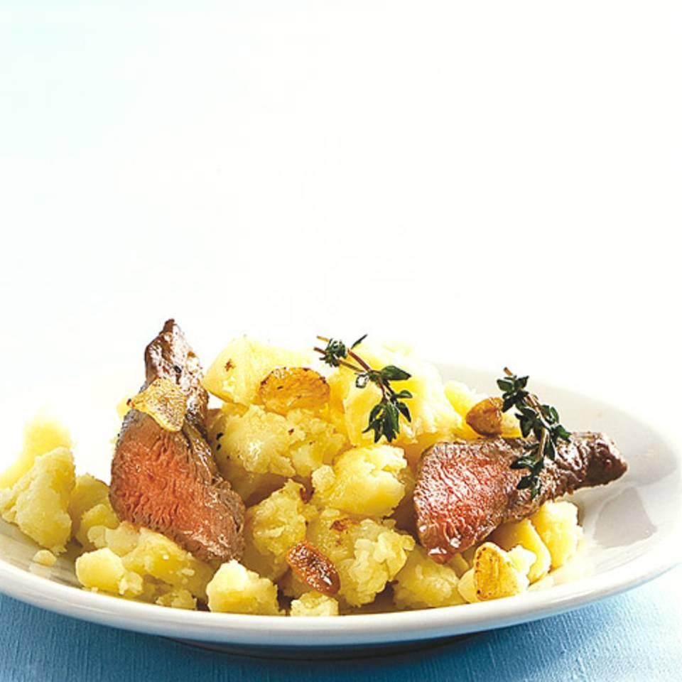 Kartoffelstampf mit Lammfilet Rezept