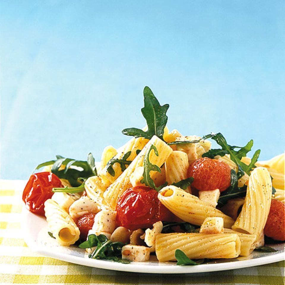 Tortiglioni mit Tomaten und Rucola