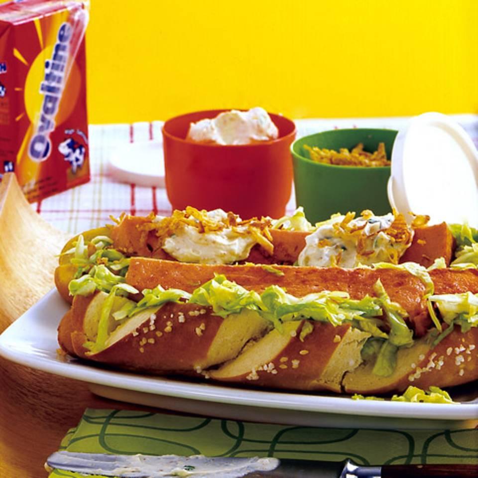 Leberkäse-Hotdog Rezept